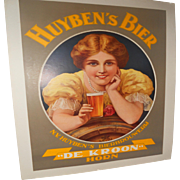 Huyben's Bier Original c.1920 Dutch Beer Poster