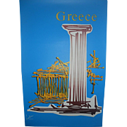 1971 Greece Travel Poster