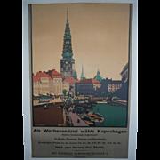 Als Wochenendziel wahle Kopenhagen c. 1920 Danish Travel Poster