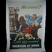Me Travel 1945 World War II Patriotic Poster