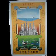 Visit Belgium c.1940 Travel Poster