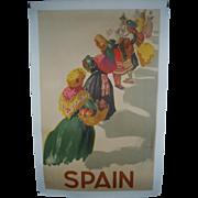 Morrell Spain Travel Poster c.1940