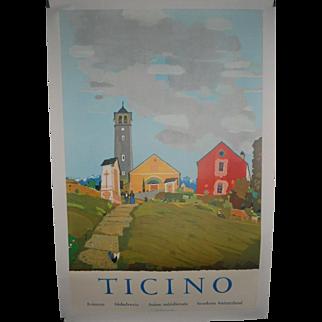 Ticino Switzerland c.1950 Swiss Travel Poster