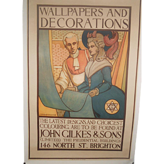 Wallpapers and Decorations c.1910 English Poster