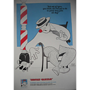 Al Hirschfeld 1975 Advertising Poster for the Book, Godfrey Daniels