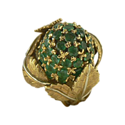 18kt Italian Emerald Ring
