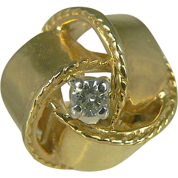 vintage 14kt knotted bow ring from duchessdigs2 on ruby