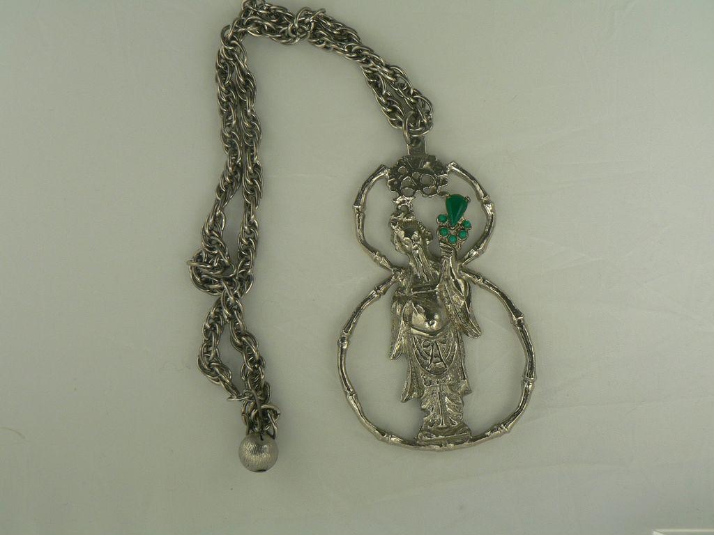 Vintage Kenneth J Lane Asian Inspired Necklace