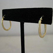 14kt Italian Hoop Earrings