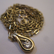 14kt Diamond Pendant Necklace