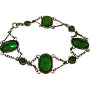 Vintage Art Deco Festoon Bracelet - Paste