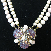 Miriam Haskell Floral Bead Vintage Necklace