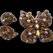 Regency Butterfly Demi-Parure - Champagne