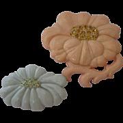 Rare 1940's Art Plastic Flower Pins