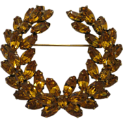 Fantastic Christian Dior By Kramer Laurel Brooch
