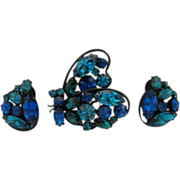 Regency Butterfly Pin & Earrings