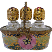 Pretty Limoges Perfume Basket Box - Peint Main