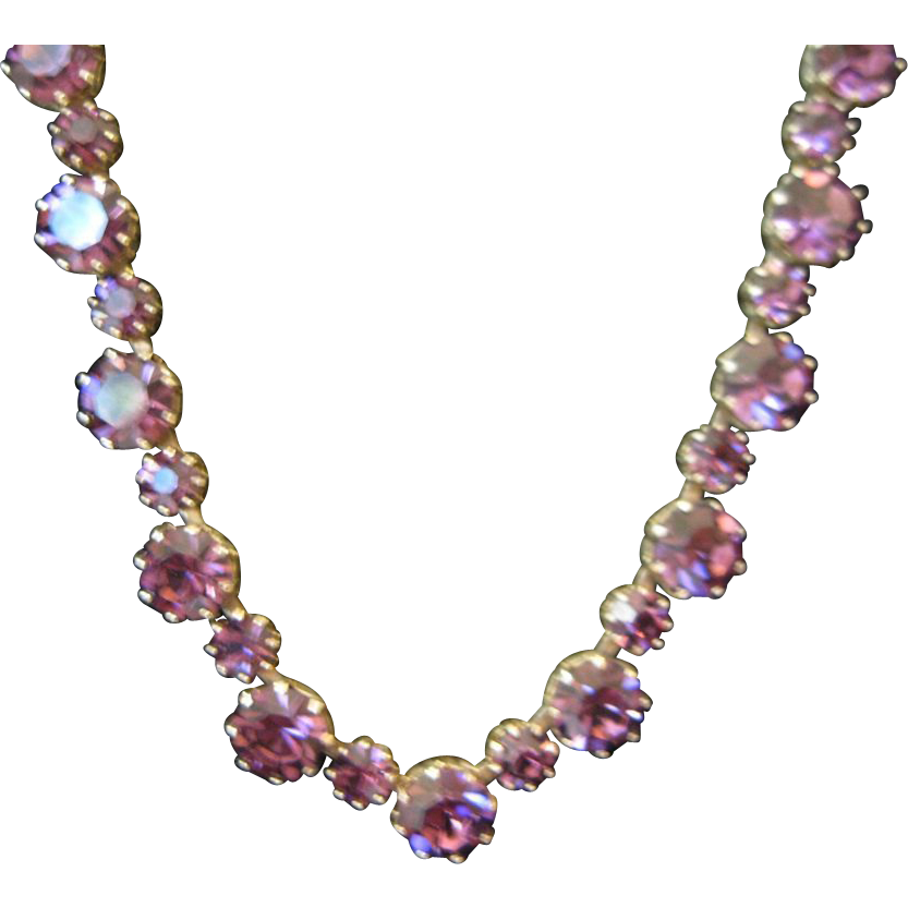 vintage weiss rare purple necklace sold on ruby lane. Black Bedroom Furniture Sets. Home Design Ideas