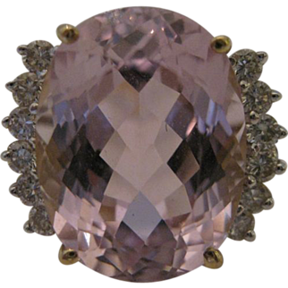 14kt Kunzite Diamond Ring