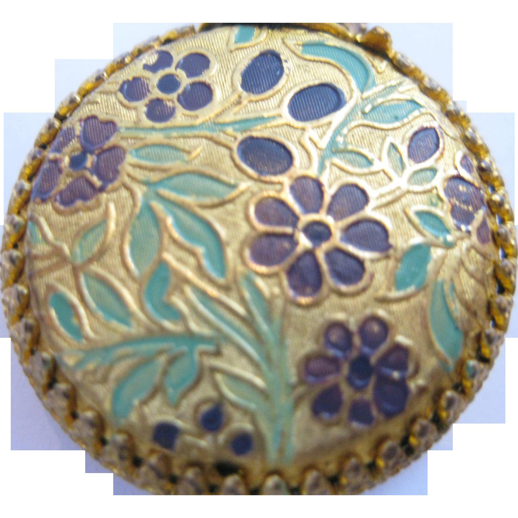 Vintage Austrian Enamel Miniature Perfume Bottle
