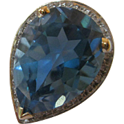14kt Swiss Blue Topaz Ring