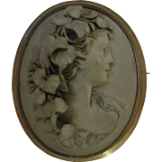 19th Century Lava Cameo - Bacchante - Red Tag Sale Item