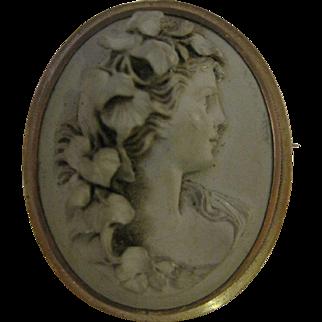 19th Century Lava Cameo - Bacchante