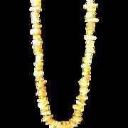 Natural Chip Amber Honey Yolk Necklace