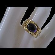 14kt Amethyst Cabochon Ring