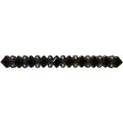 Victorian 10kt Onyx and Seed Pearl Bar Pin