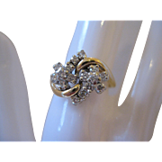 14kt Diamond Cluster Ring