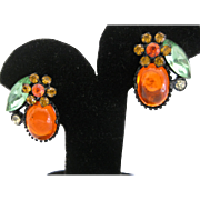 Vintage Yummy Jelly Clip Earrings