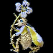 Rare Vintage Hattie Carnegie Beetle Brooch