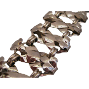 Retro Napier Sterling Silver Chunky Statement Bracelet