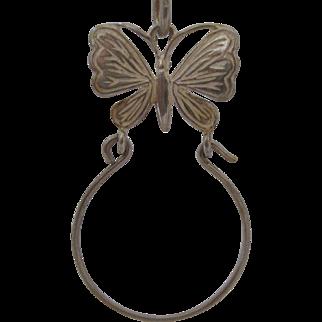 Lovely Sterling Butterfly Charm Holder
