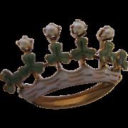 14kt Enamel Cultured Seed Pearl Love Token Pin