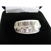 14kt Diamond Baguette 3ct Band