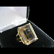 10kt Citrine Emerald Cut Ring