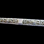 14kt Edwardian Diamond Bar Pin