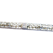 14kt Edwardian Diamond Bar Pin