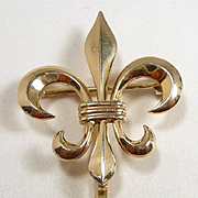 Fleur de Lis Watch Pin/Brooch by Bioren Bros, Newark c. 1900