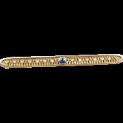 Marvelous Montana Nouveau Sapphire and Pearl Brooch by Harvey Flint Company c. 1890