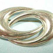 Classically Simple Mid-Century Sterling Brooch c. 1950