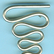 "Dynamic Mid-Century Modern ""Squiggle"" Brooch c. 1950"
