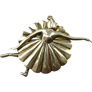 Charming Margot de Taxco Large Ballerina Brooch #5200 c. 1950