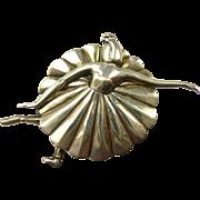 Charming Margot de Taxco Large Ballerina Brooch #5200 c. 1950