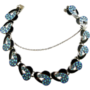 Striking Margot de Taxco Enamel Mosaic Bracelet #5735 c. 1960