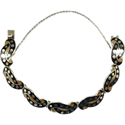 "Singular Margot de Taxco Sterling Enamel ""Dots on a Knot"" #5700 c. 1955"