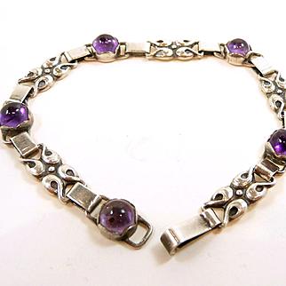 Enticing Early Evald Nielsen Amethyst Bracelet c. 1910