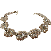 Chic Niels Eric From Denmark Mid Century Silver Bracelet c.1950